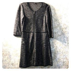 Ann Taylor LP full zip soft as merino wool dress.
